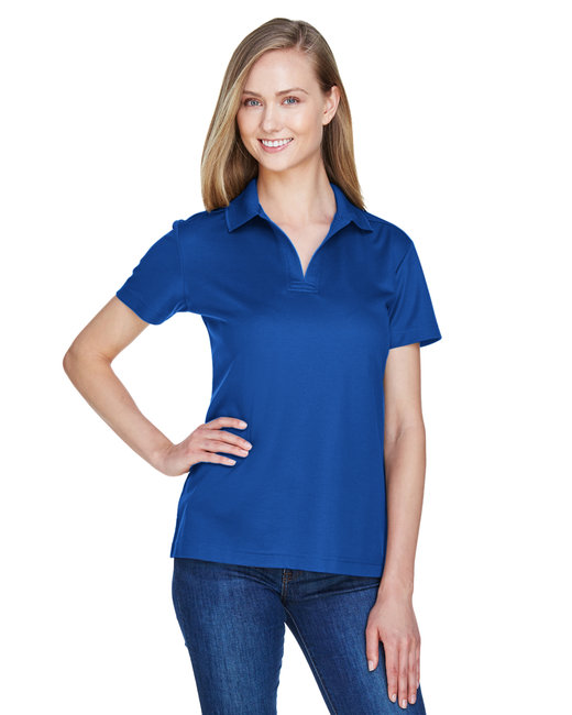Devon & Jones Ladies' CrownLux Performance� Plaited Polo - True Royal