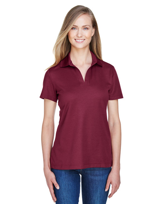 Devon & Jones Ladies' CrownLux Performance� Plaited Polo - Burgundy