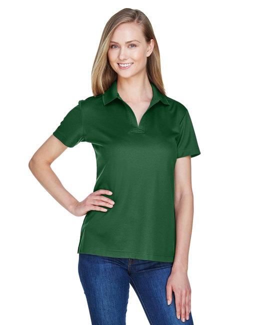 Devon & Jones Ladies' CrownLux Performance� Plaited Polo - Forest
