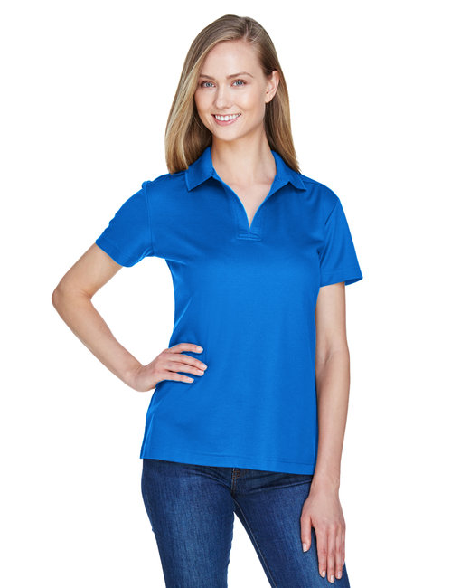 Devon & Jones Ladies' CrownLux Performance� Plaited Polo - French Blue