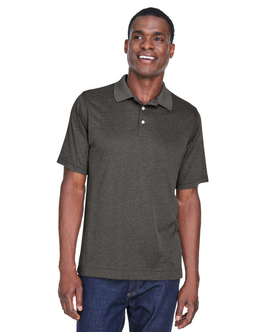 Devon & Jones Men's Pima-Tech� Jet Piqu� Heather Polo - Dk Grey Heather