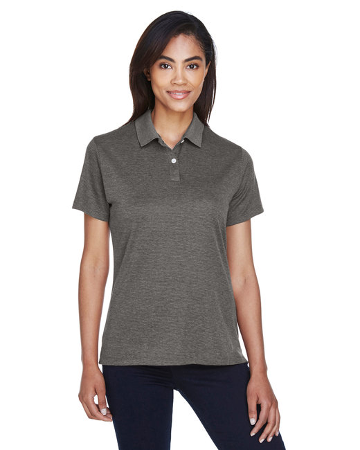Devon & Jones Ladies' Pima-Tech� Jet Piqu� Heather Polo - Dk Grey Heather