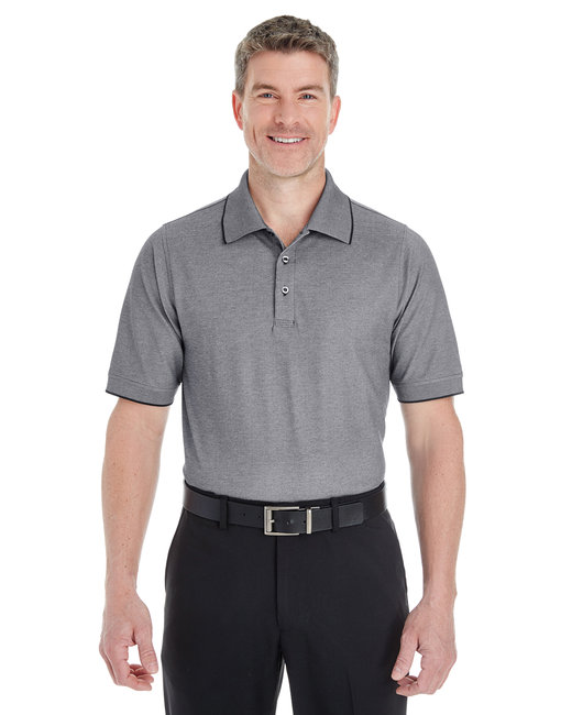 Devon & Jones Men's Pima-Tech� Oxford Piqu� Polo - Drk Grey Heather