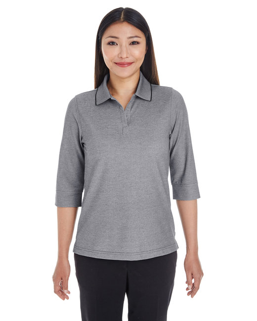 Devon & Jones Ladies' Pima-Tech� Oxford Piqu� Polo - Drk Grey Heather