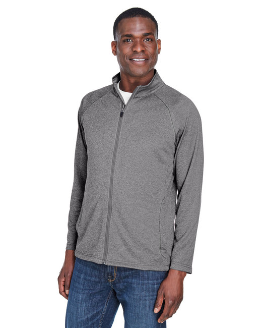 Devon & Jones Men's Stretch Tech-Shell� Compass Full-Zip - Dk Grey Heather