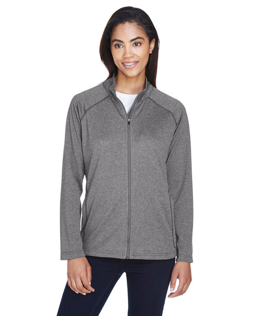 Devon & Jones Ladies' Stretch Tech-Shell� Compass Full-Zip - Dk Grey Heather