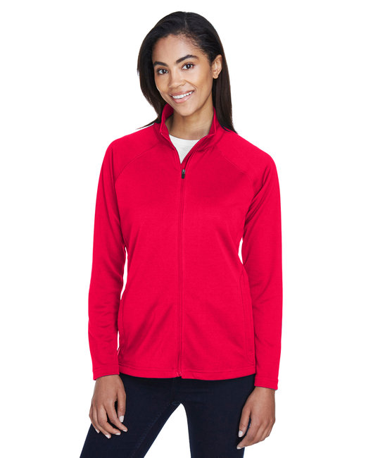 Devon & Jones Ladies' Stretch Tech-Shell® Compass Full-Zip - Red