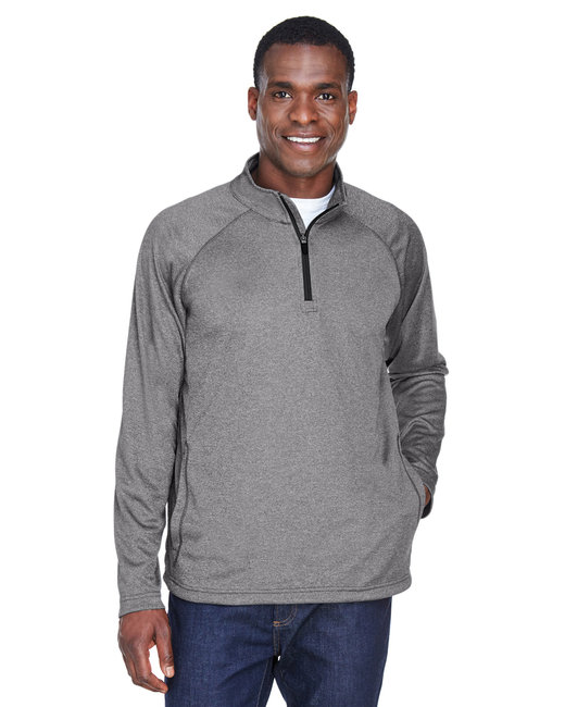 Devon & Jones Men's Stretch Tech-Shell� Compass Quarter-Zip - Dk Grey Heather