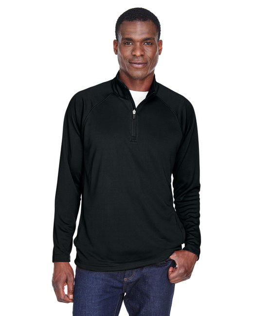 Devon & Jones Men's Stretch Tech-Shell� Compass Quarter-Zip - Black