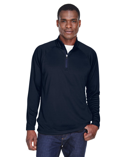 Devon & Jones Men's Stretch Tech-Shell� Compass Quarter-Zip - Navy