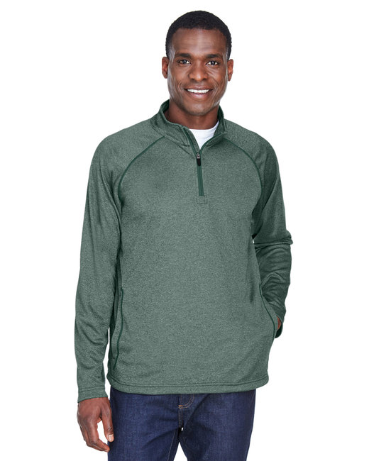 Devon & Jones Men's Stretch Tech-Shell� Compass Quarter-Zip - Forest Heather