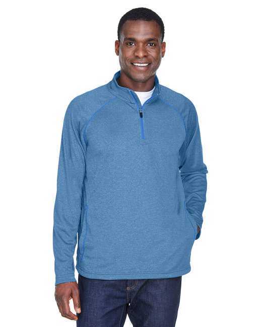 Devon & Jones Men's Stretch Tech-Shell� Compass Quarter-Zip - French Blue Hthr