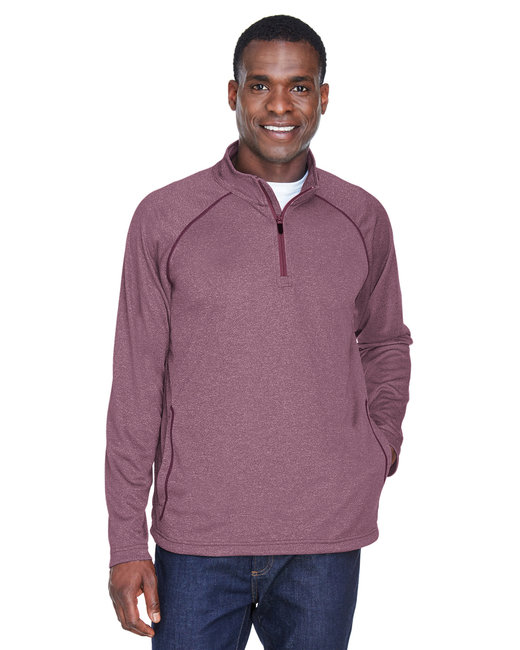 Devon & Jones Men's Stretch Tech-Shell� Compass Quarter-Zip - Burgundy Heather