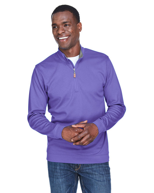 Devon & Jones Men's DRYTEC20� Performance Quarter-Zip - Grp/ Gr Hth /Grp