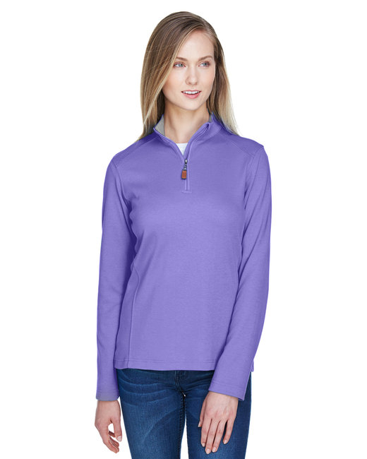 Devon & Jones Ladies' DRYTEC20� Performance Quarter-Zip - Grp/ Gr Hth /Grp