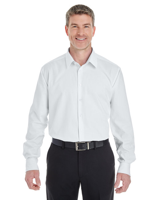 Devon & Jones Men's Crown Woven Collection� Royal�Dobby Shirt - White