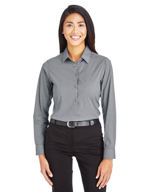 Devon & Jones CrownLux Performance™ Ladies' Tonal Mini Check Shirt