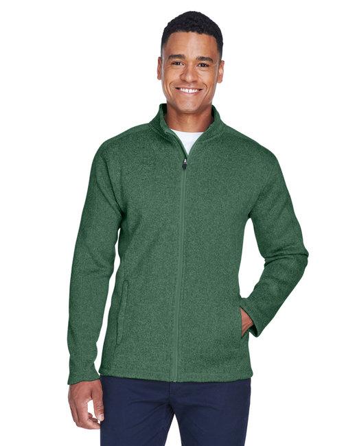 Devon & Jones Men's Bristol Full-Zip Sweater Fleece Jacket - Forest Heather