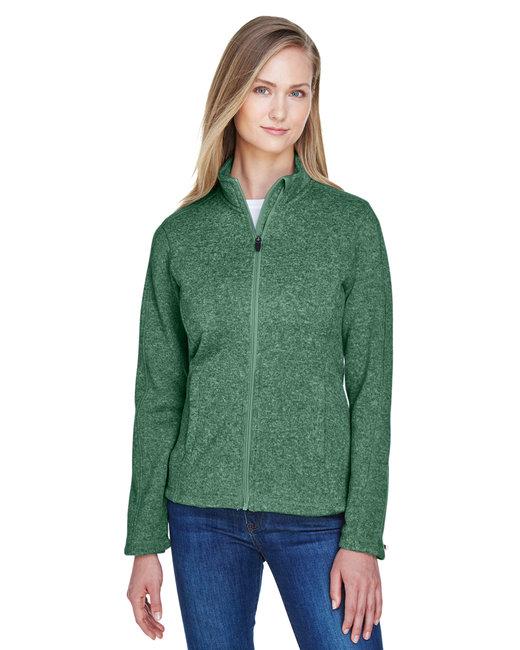 Devon & Jones Ladies' Bristol Full-Zip Sweater Fleece Jacket - Forest Heather