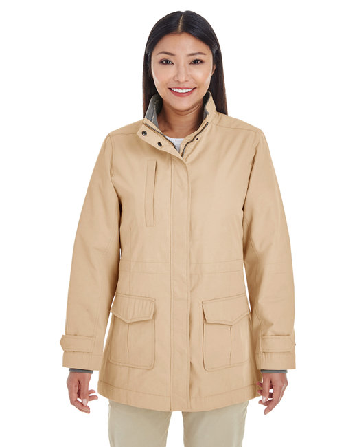 Devon & Jones Ladies' Hartford All-Season Hip-Length Club Jacket - Khaki