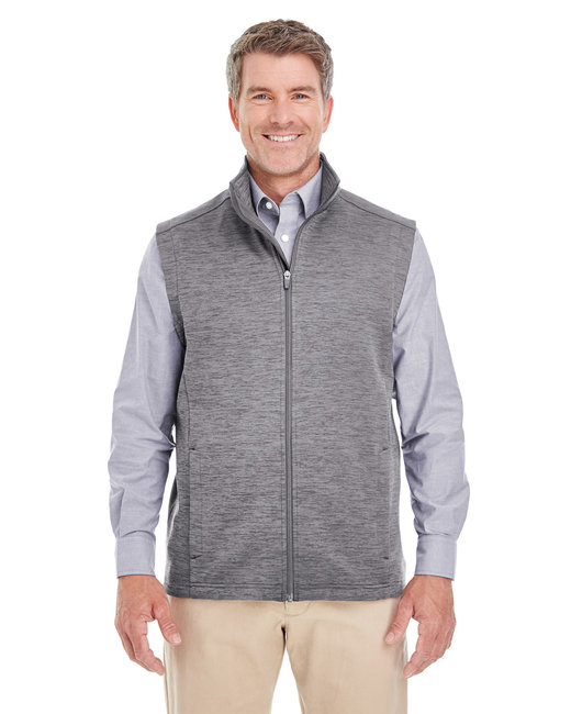 Devon & Jones Men's Newbury M�lange�Fleece Vest - Dark Grey Heathr
