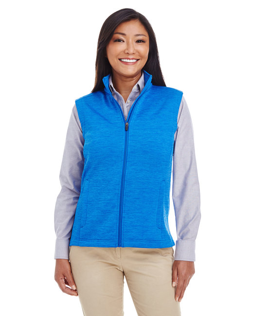 Devon & Jones Ladies' Newbury M�lange�Fleece Vest - French Blue Hthr