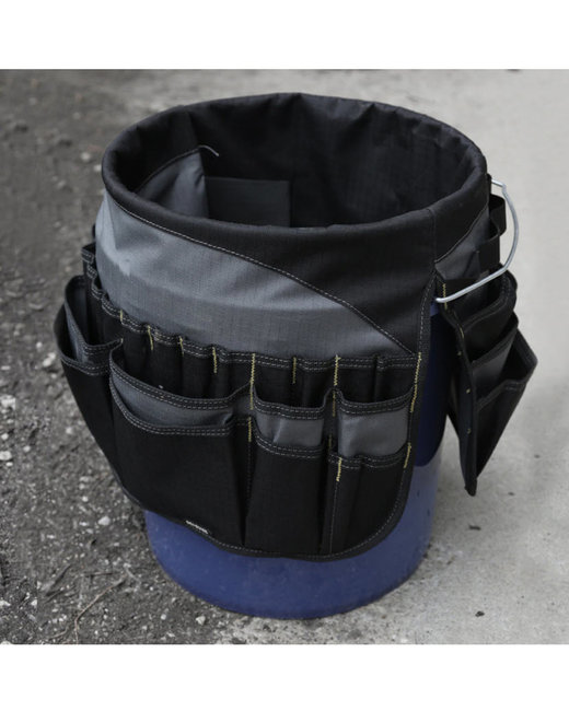Dri Duck 100% Polyester Bucket Tool Bag - Black