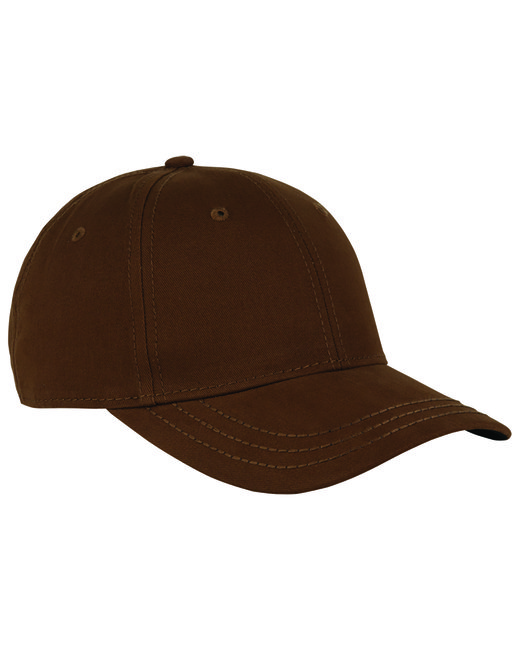 Dri Duck Cotton Twill Heritage Cap - Brown