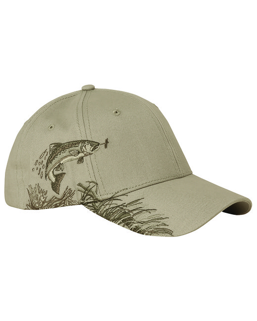 Dri Duck Brushed Cotton Twill Trout Cap - Sand