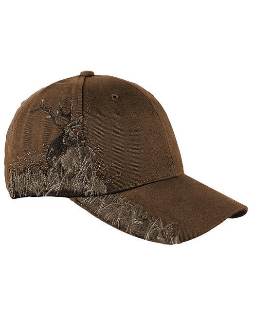 Dri Duck Brushed Cotton Twill Elk Cap - Brown