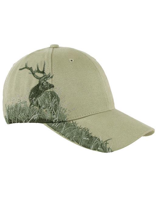 Dri Duck Brushed Cotton Twill Elk Cap - Khaki