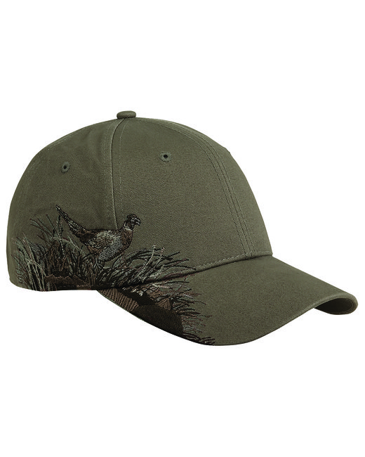 Dri Duck Brushed Cotton Twill Pheasant Cap - Taupe