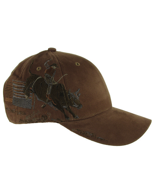 Dri Duck Brushed Cotton Twill Bull Rider Cap - Brown