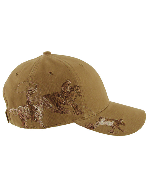 Dri Duck Brushed Cotton Twill Team Roping Cap - Wheat
