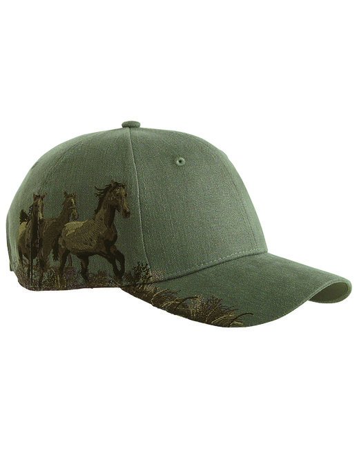 Dri Duck Brushed Cotton Twill Mustang Cap - Earth