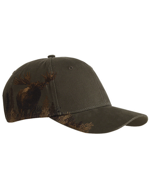 Dri Duck Brushed Cotton Twill Moose Cap - Brown