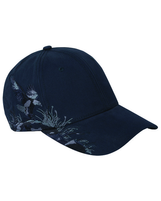 Dri Duck Brushed Cotton Twill Eagle Cap - Navy