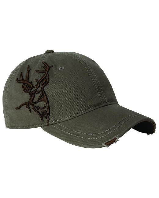 Dri Duck Brushed Cotton Twill Buck 3D Cap - Earth