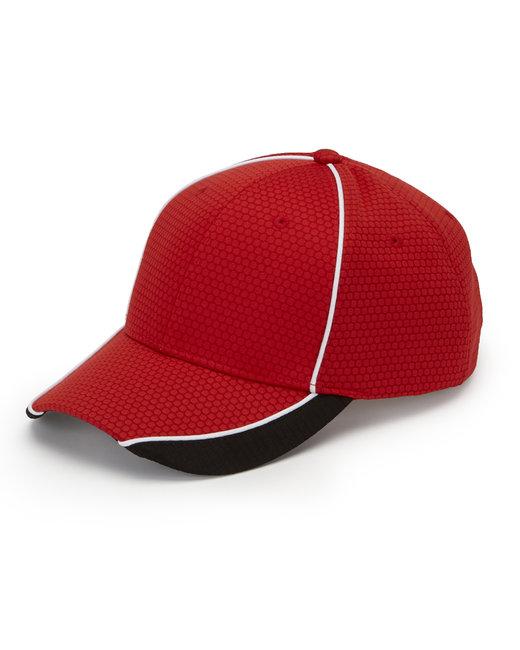 Adams First String Cap - Red/ Black/ Wht