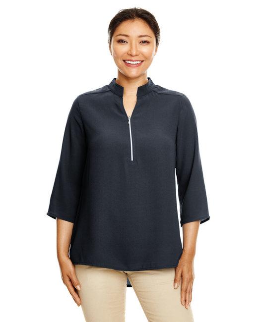 Devon & Jones Ladies' Perfect Fit�  3/4-Sleeve Crepe Tunic - Black
