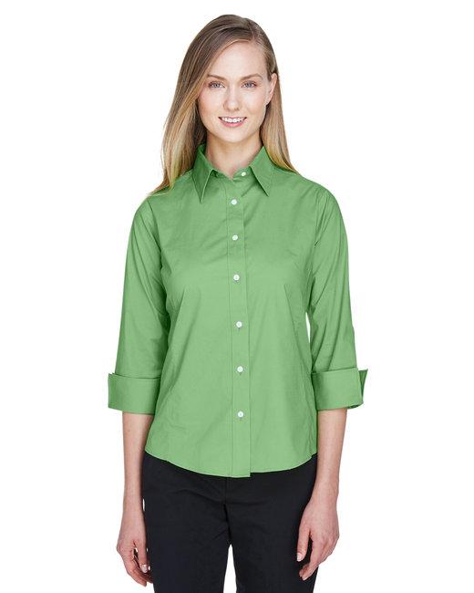 Devon & Jones Ladies' Perfect Fit™ 3/4-Sleeve Stretch Poplin Blouse - Lime