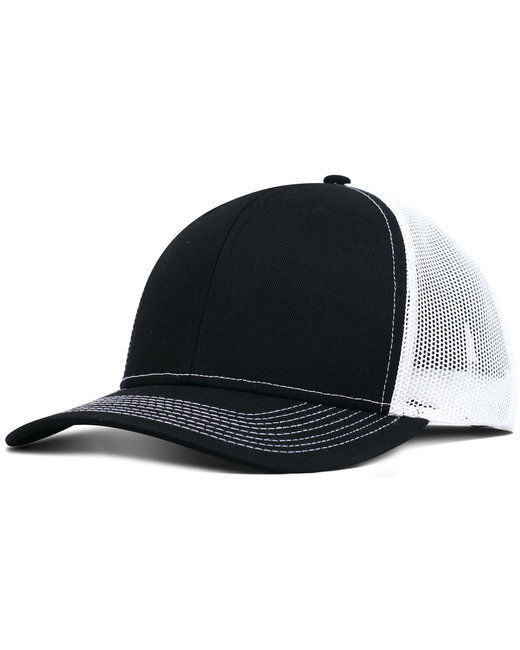 Fahrenheit Pro Style Trucker Hat - Black/ White