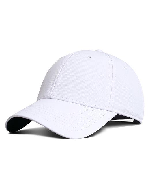 Fahrenheit Performance Fabric Cap - White
