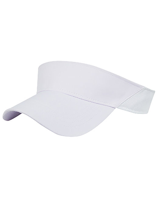 Fahrenheit Peformance Visor with Mesh Back - White