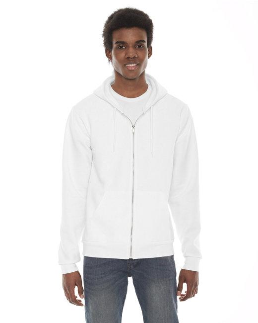 American Apparel Unisex Flex Fleece Zip Hoodie - White