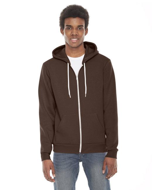 American Apparel Unisex Flex Fleece Zip Hoodie - Brown