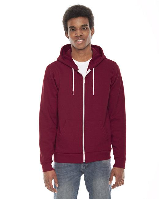 American Apparel Unisex Flex Fleece Zip Hoodie - Cranberry