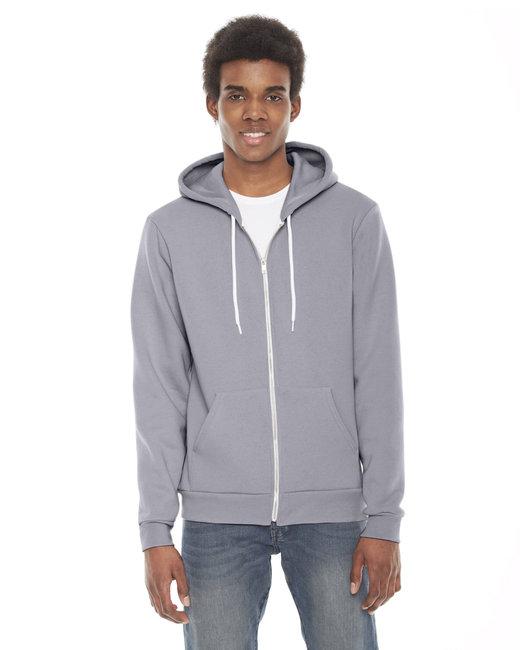 American Apparel Unisex Flex Fleece Zip Hoodie - Slate