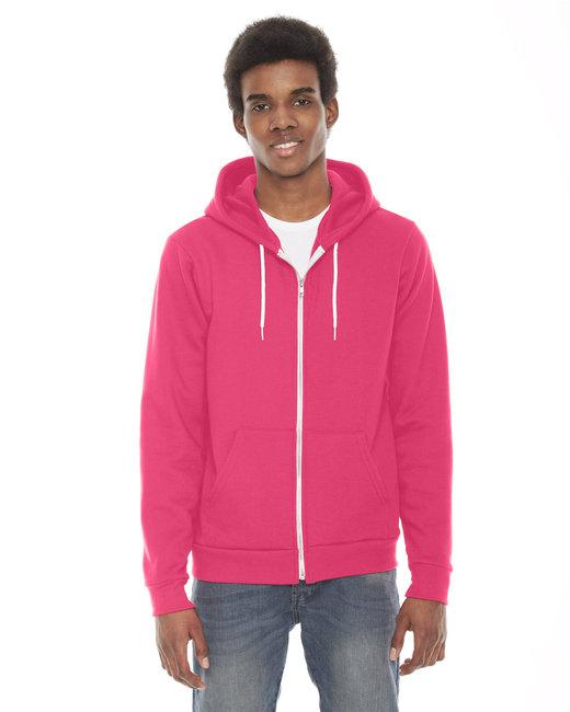 American Apparel Unisex Flex Fleece Zip Hoodie - Deep Pink