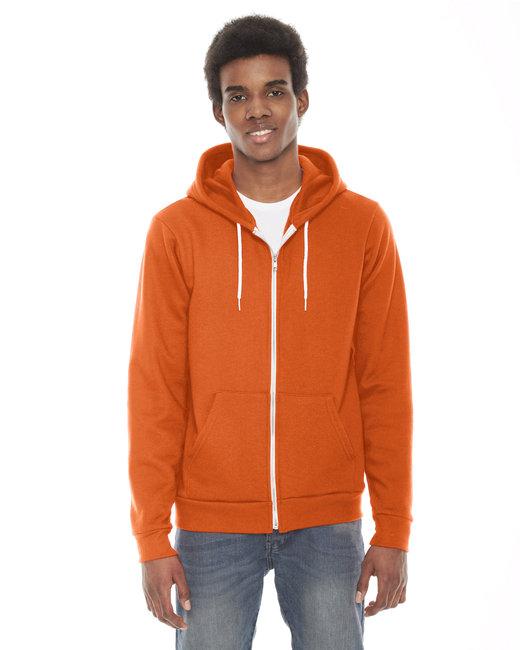 American Apparel Unisex Flex Fleece Zip Hoodie - Tang